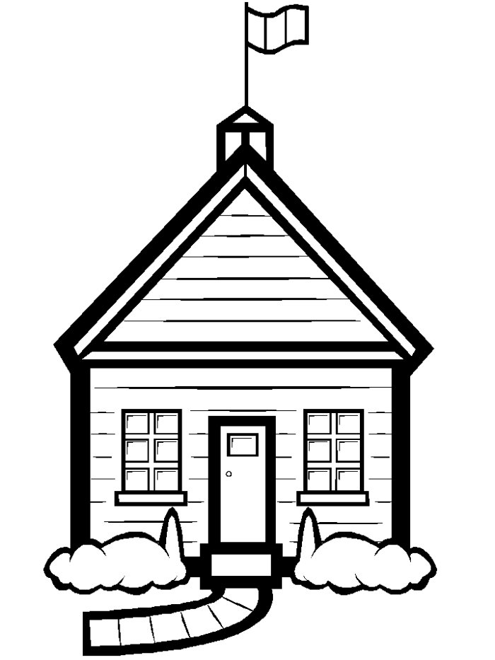 school clipart coloring back to school coloring pages sarah titus school clipart coloring