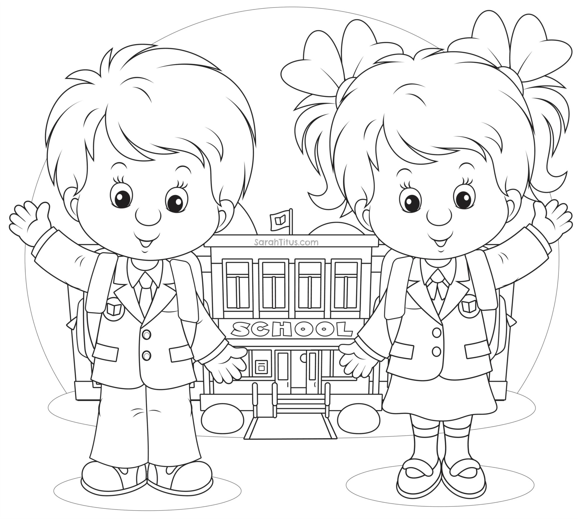 school clipart coloring back to school coloring pages sarah titus school coloring clipart