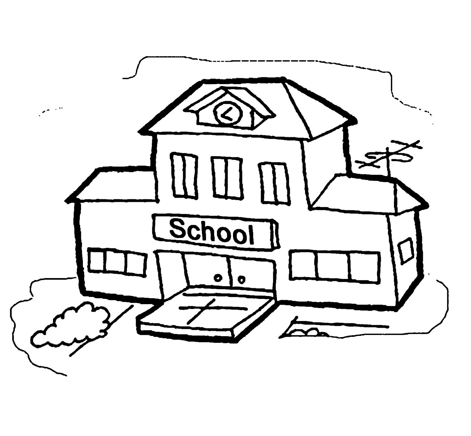 school clipart coloring coloring page of a school building coloring home school coloring clipart