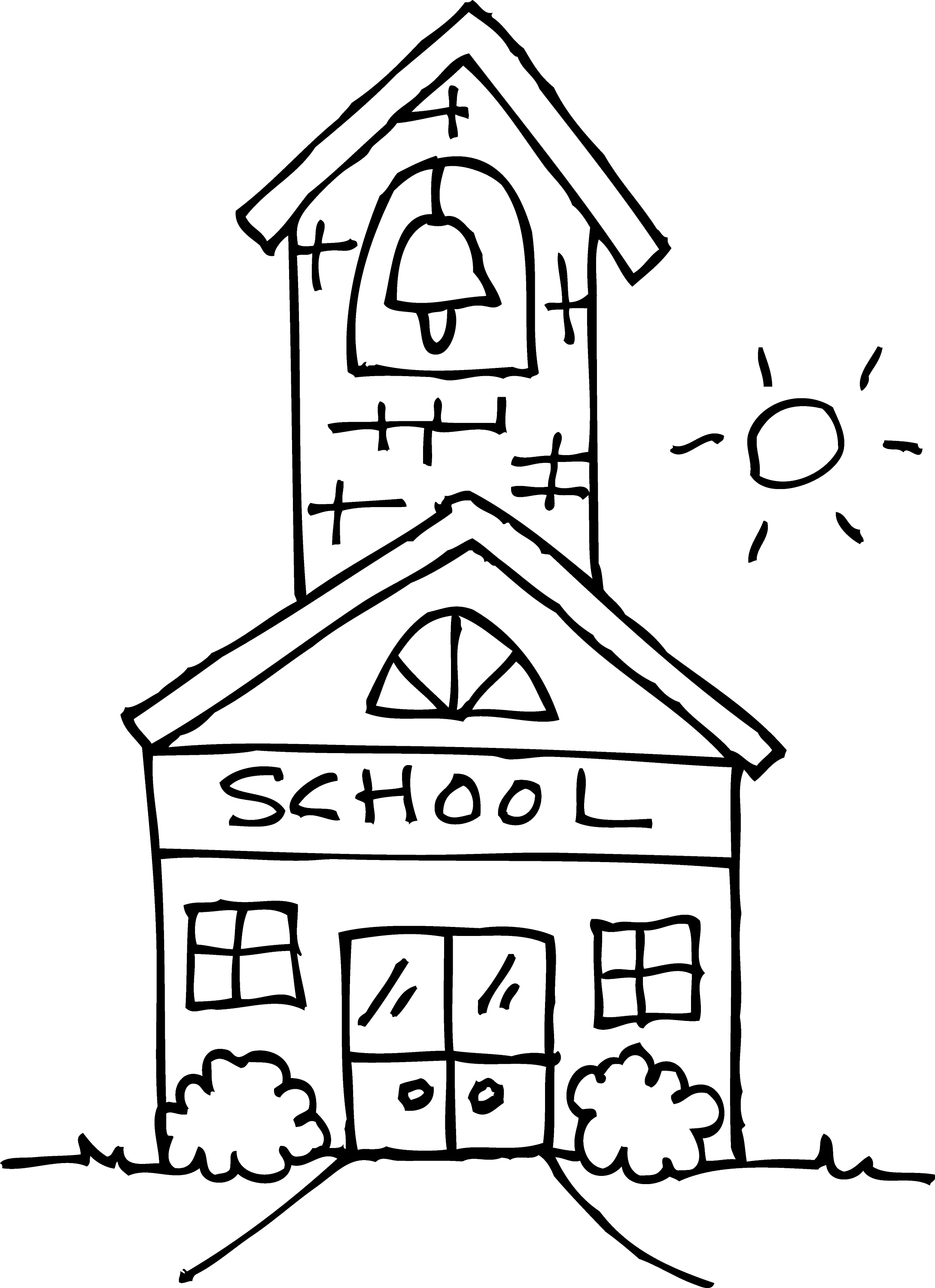 school clipart coloring welcome back to school clipart black and white free coloring clipart school