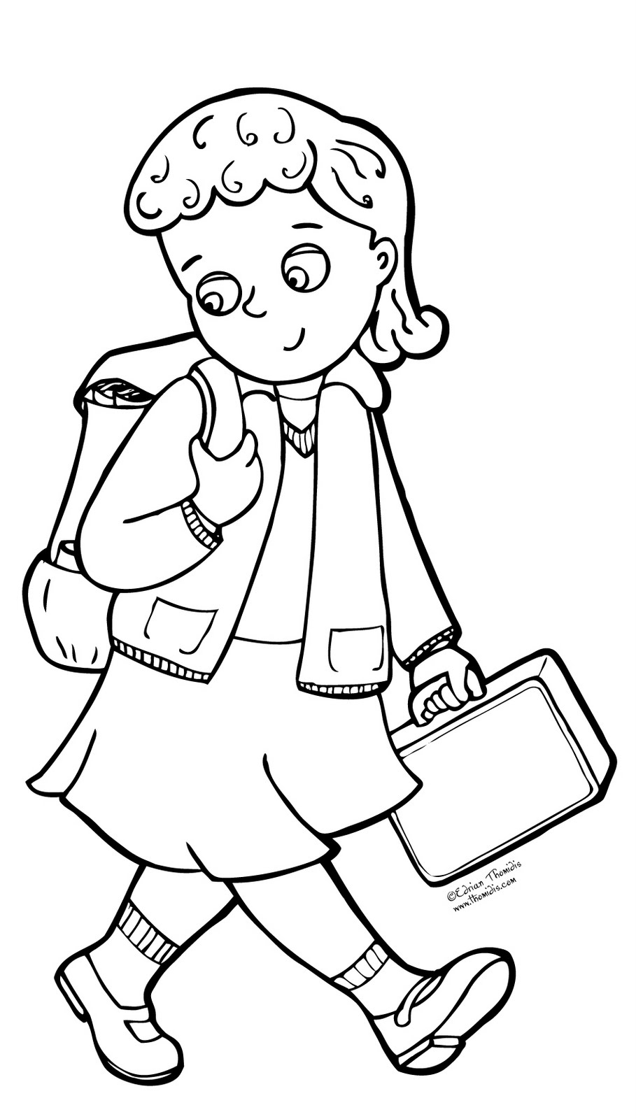 school girl coloring pages a picture paints a thousand words july 2011 pages girl coloring school