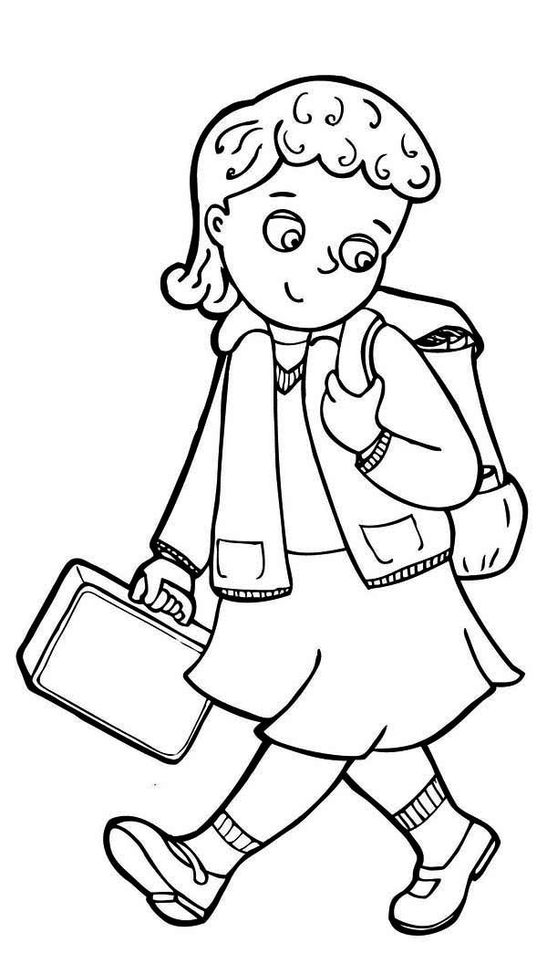 school girl coloring pages cute little girls coloring pages coloring home pages school girl coloring