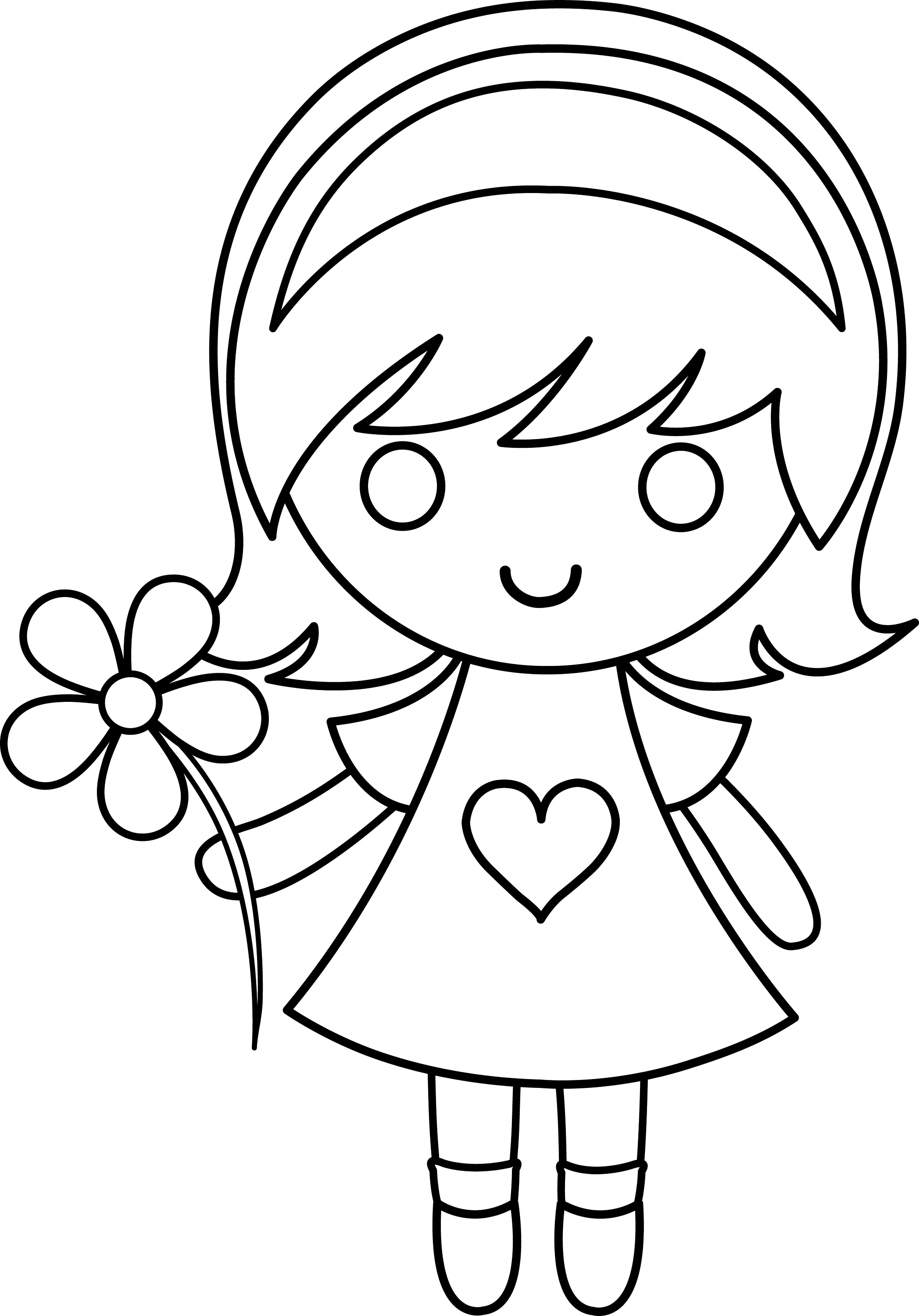 school girl coloring pages daisy girl colorable line art free clip art coloring girl school pages