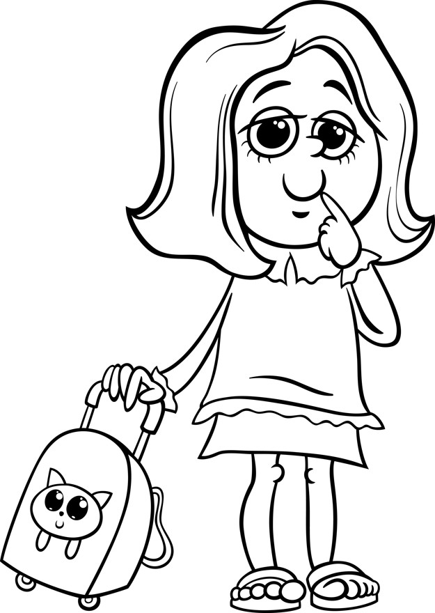 school girl coloring pages grade school girl coloring page vector premium download girl school coloring pages