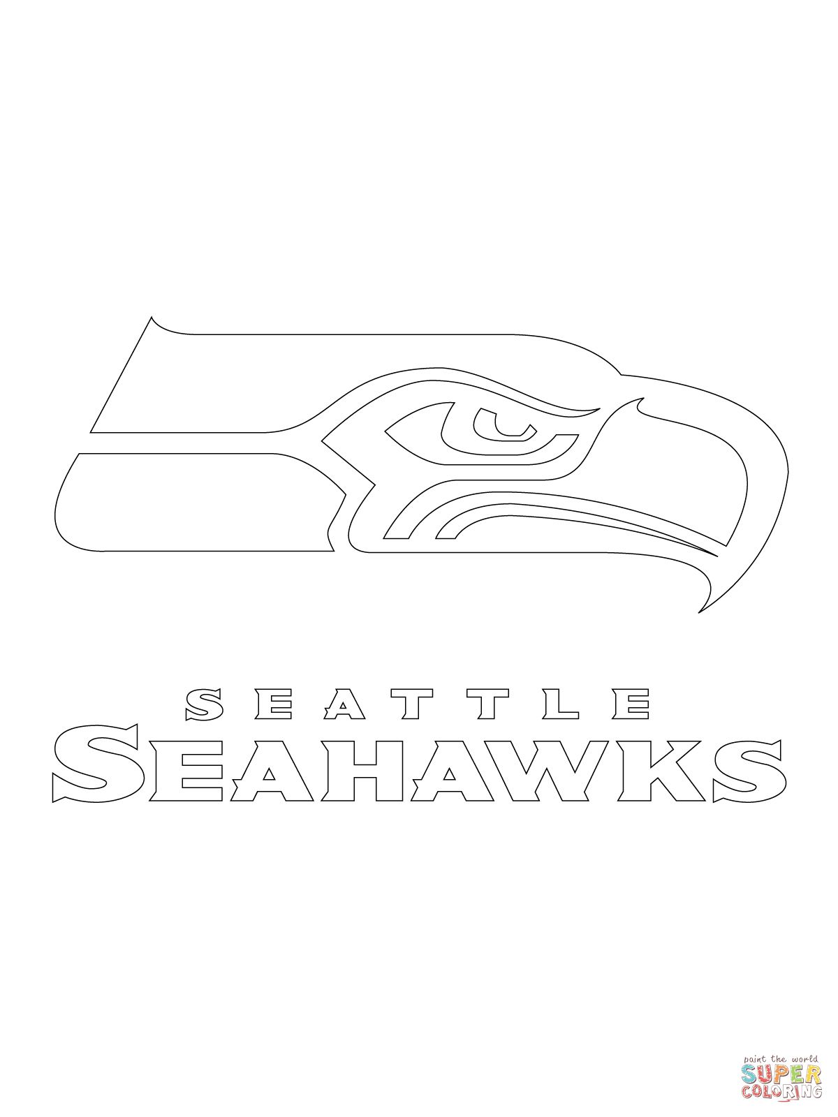 Seahawks coloring pages to print