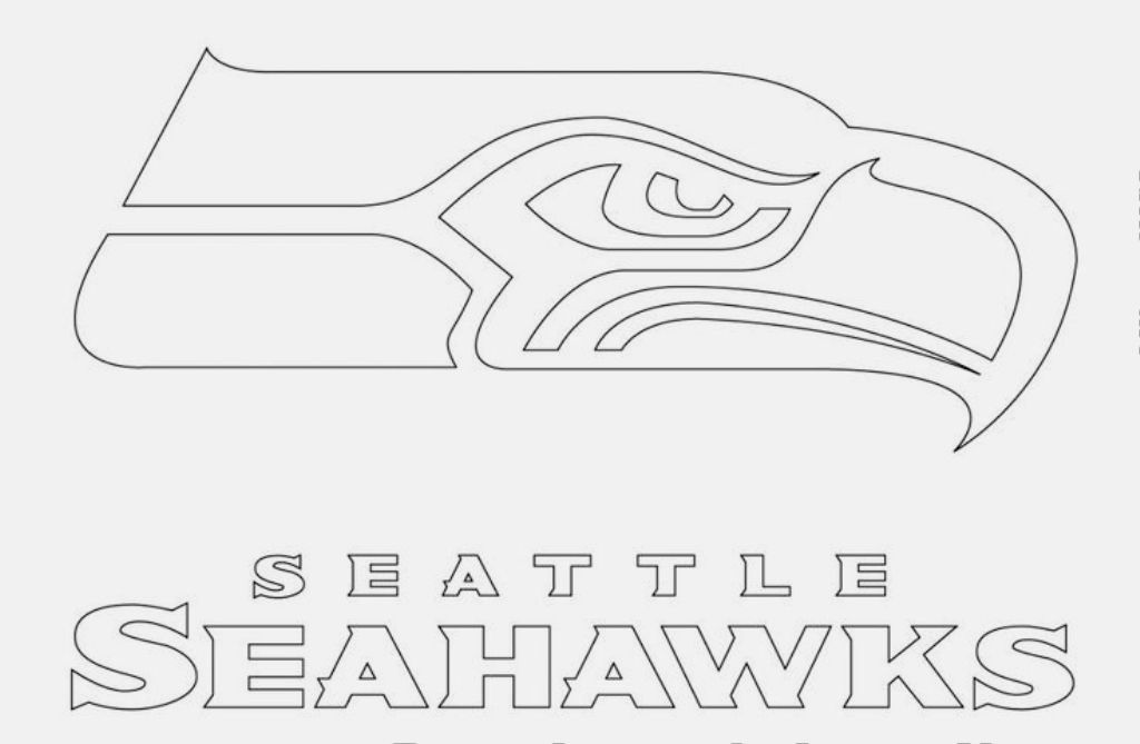seahawks coloring pages to print seattle seahawks logo football team in the nfc west pages print coloring to seahawks