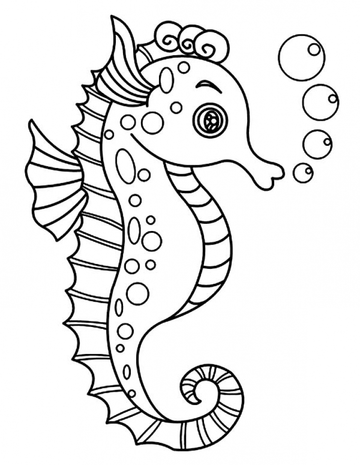 Seahorse coloring pictures
