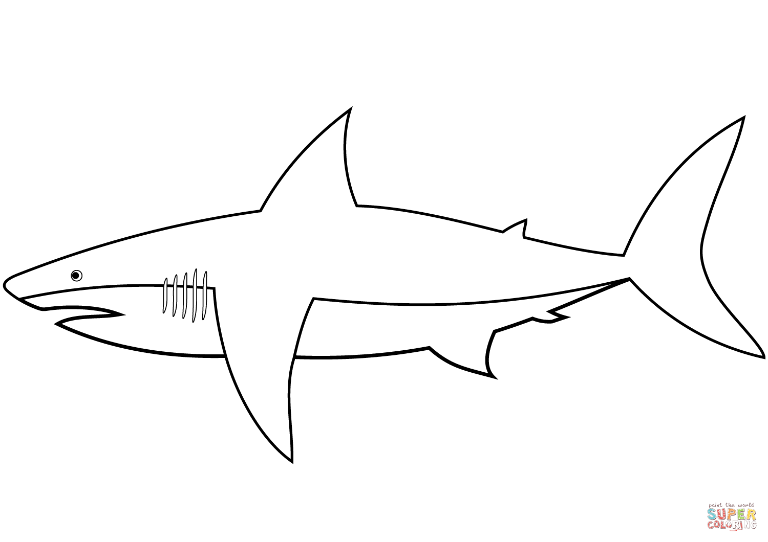sharks pictures to color easy shark coloring page free printable coloring pages pictures color to sharks