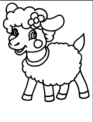 sheep coloring pages preschool sheep drawing for kids at getdrawings free download preschool pages coloring sheep