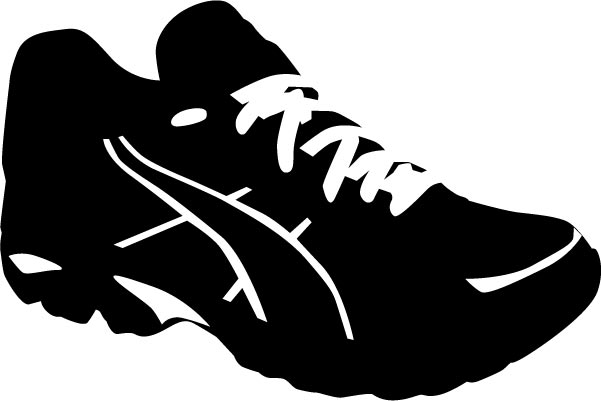 shoe silhouette shoes track silhouette stock illustration download image silhouette shoe