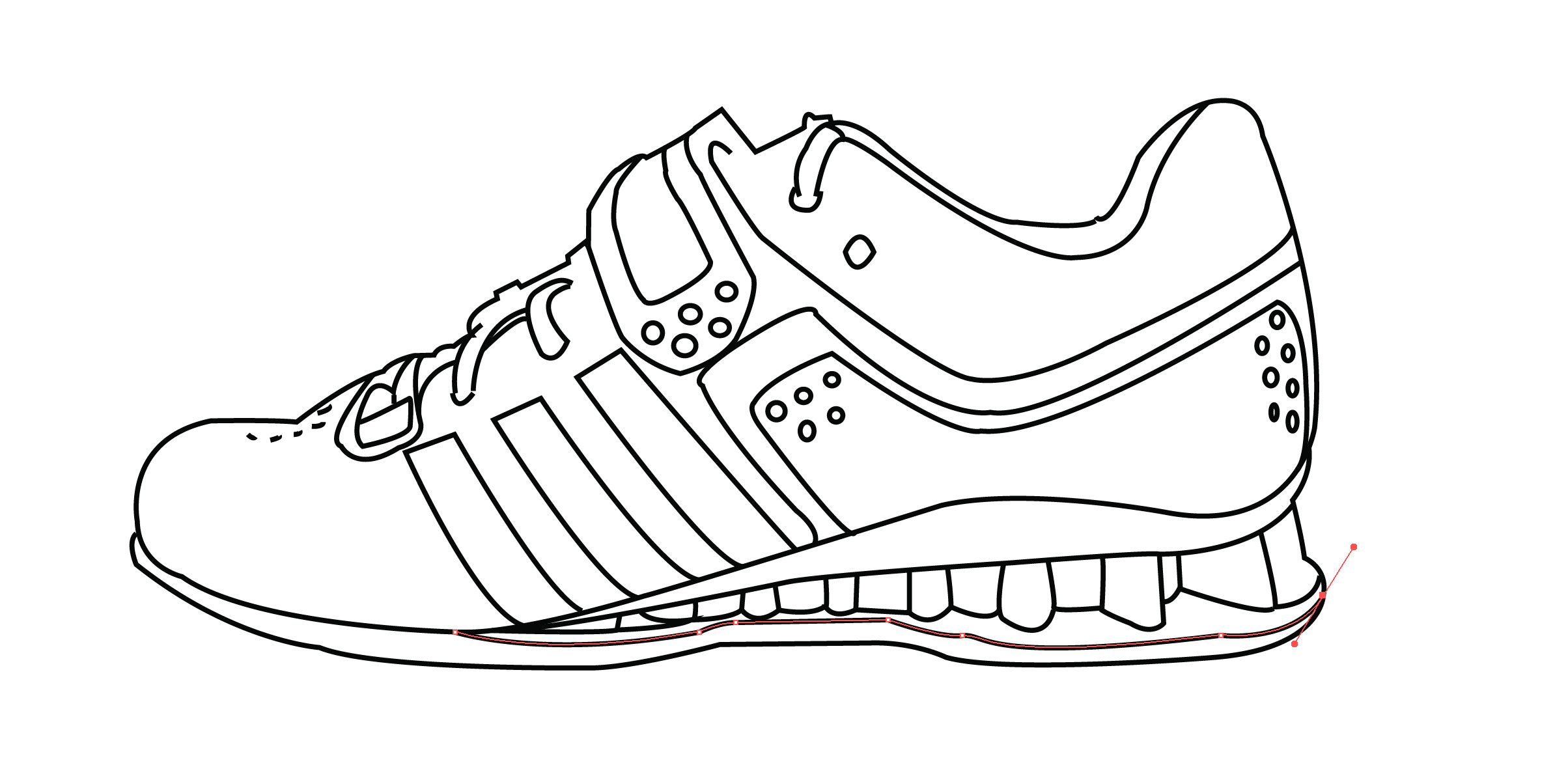 shoes drawing shoe drawing template at getdrawings free download shoes drawing
