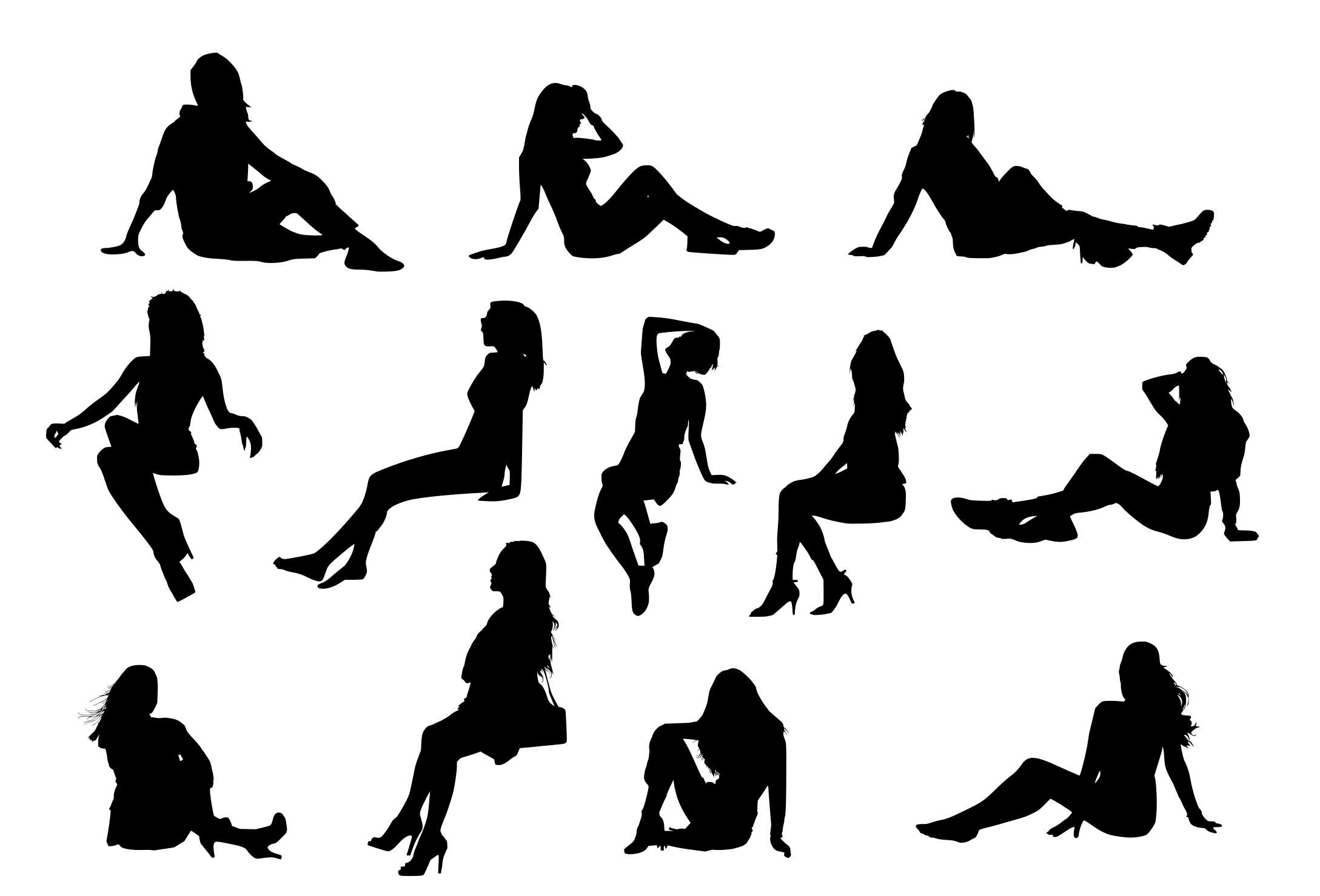 silhouette girl sitting library of sitting woman png royalty free png files silhouette sitting girl