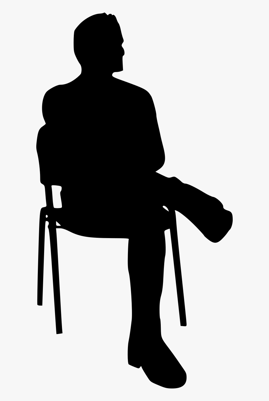 silhouette of a person sitting person sitting in chair silhouette hd png download kindpng sitting of a silhouette person