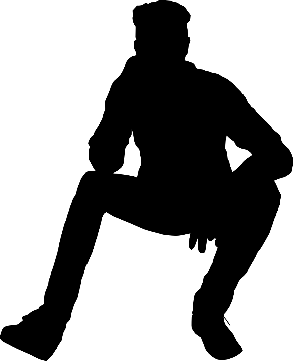 Silhouette of a person sitting