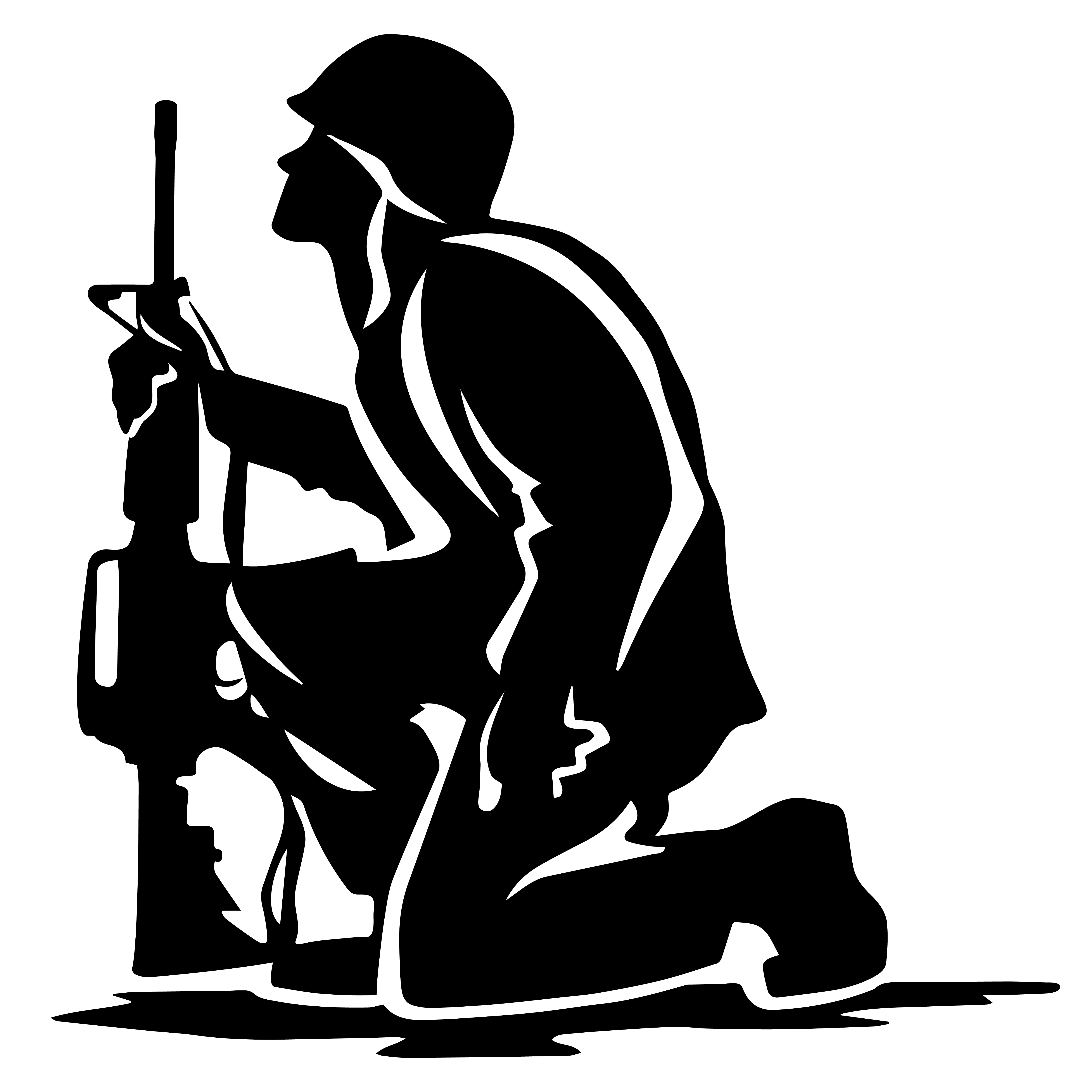 silhouette of soldier vector soldier silhouettes freevectors soldier silhouette of