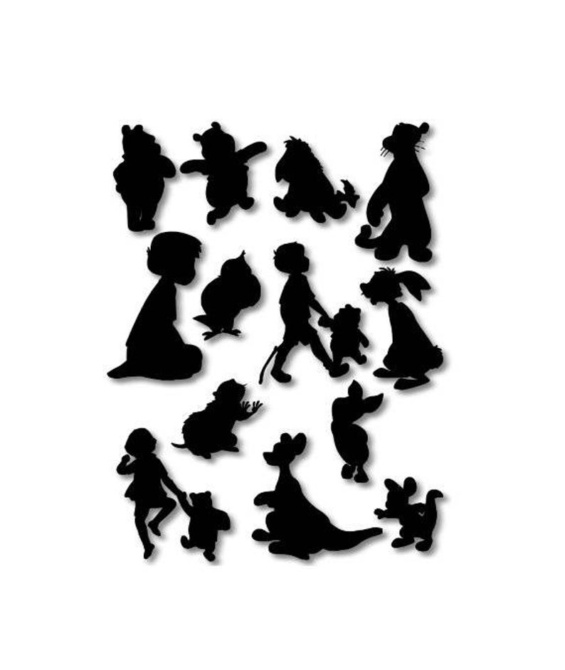 silhouette of winnie the pooh winnie the pooh silhouette at getdrawings free download pooh the winnie silhouette of
