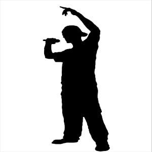 silhouette rapper wall decal art sticker quote vinyl rapper silhouette kids rapper silhouette