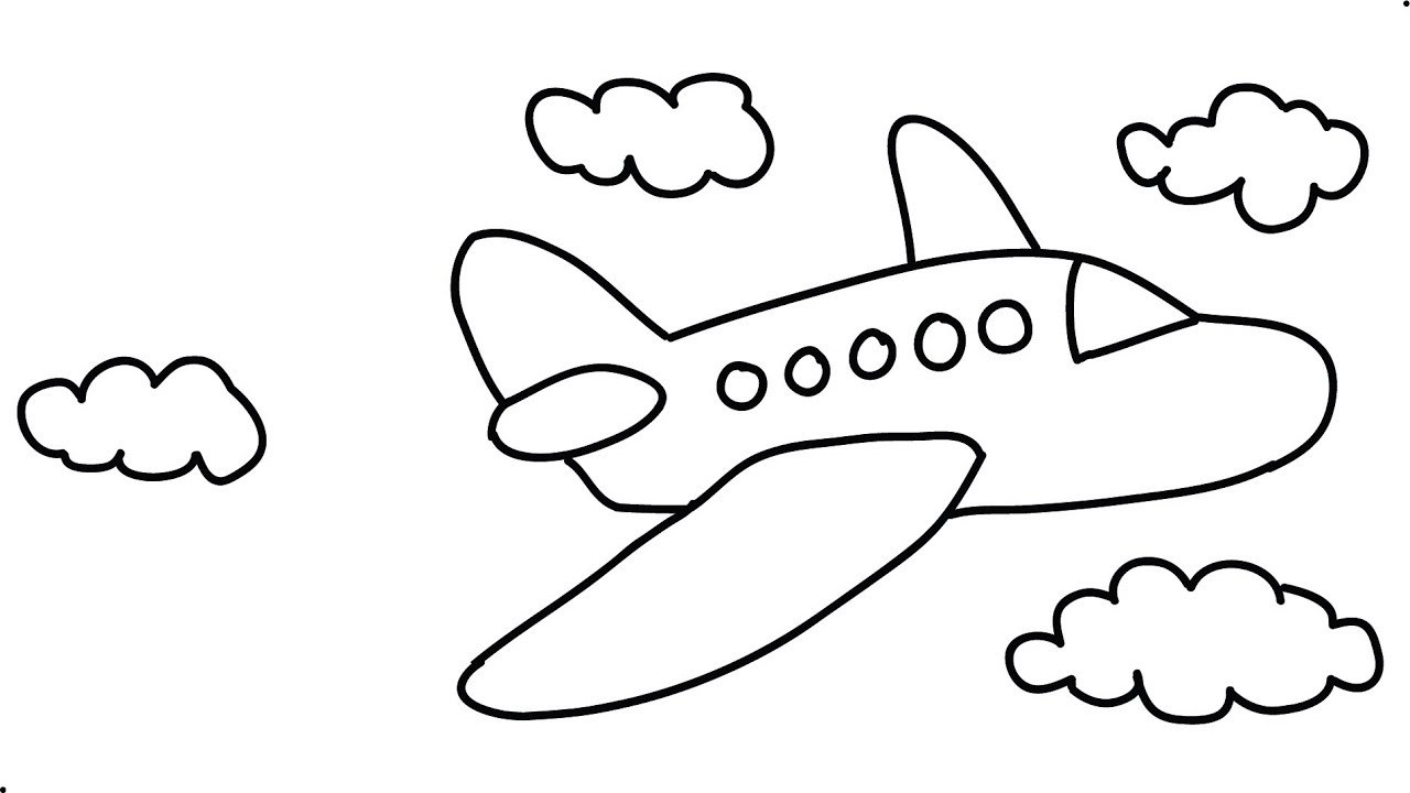 simple drawing of airplane airplane drawing easy at paintingvalleycom explore of drawing simple airplane