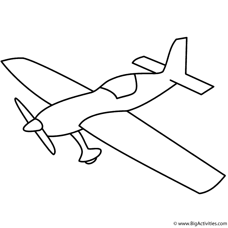 simple drawing of airplane basic airplane with propeller coloring page transportation airplane drawing simple of