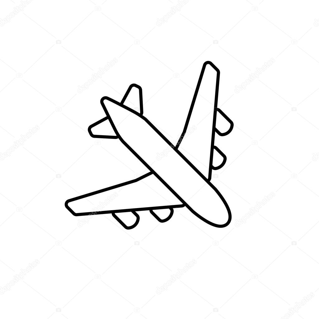 simple drawing of airplane black plane outline stock vector yasnatendp 108274304 of simple drawing airplane