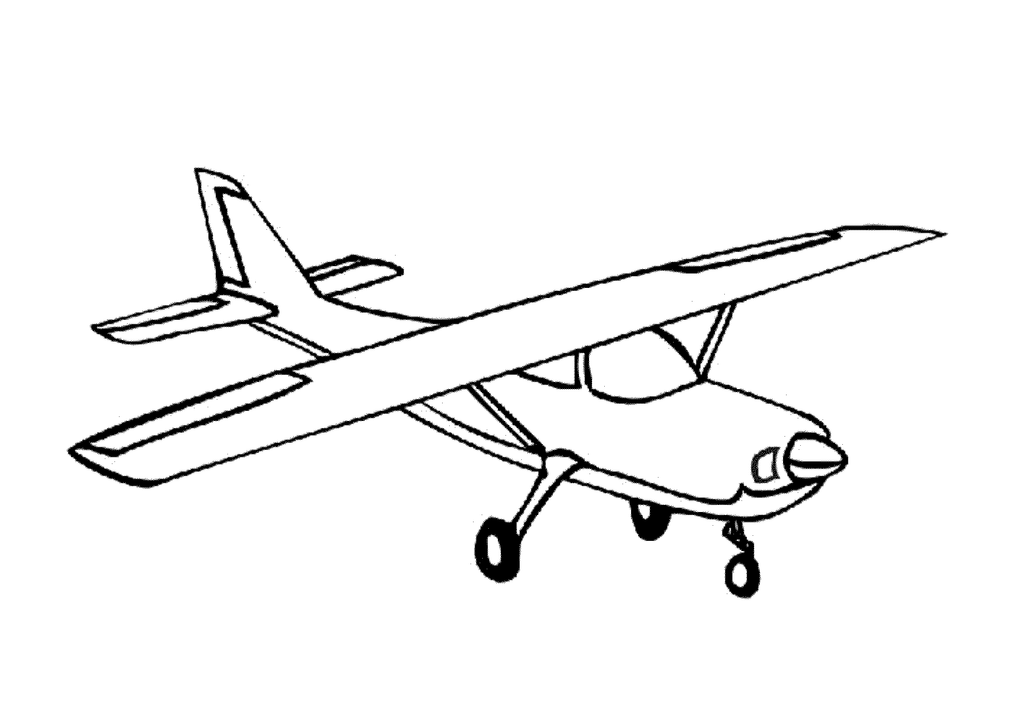 simple drawing of airplane easy airplane drawing at getdrawings free download drawing of simple airplane