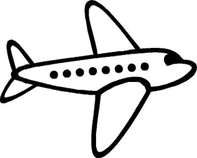 simple drawing of airplane great free clipart silhouette coloring pages and drawing airplane of simple