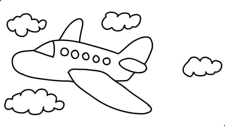 simple drawing of airplane how to draw a plane for kids step by step airplanes simple drawing airplane of