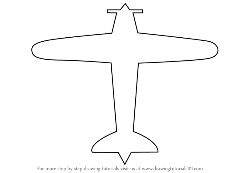 simple drawing of airplane learn how to draw a simple aeroplane airplanes step by simple airplane of drawing