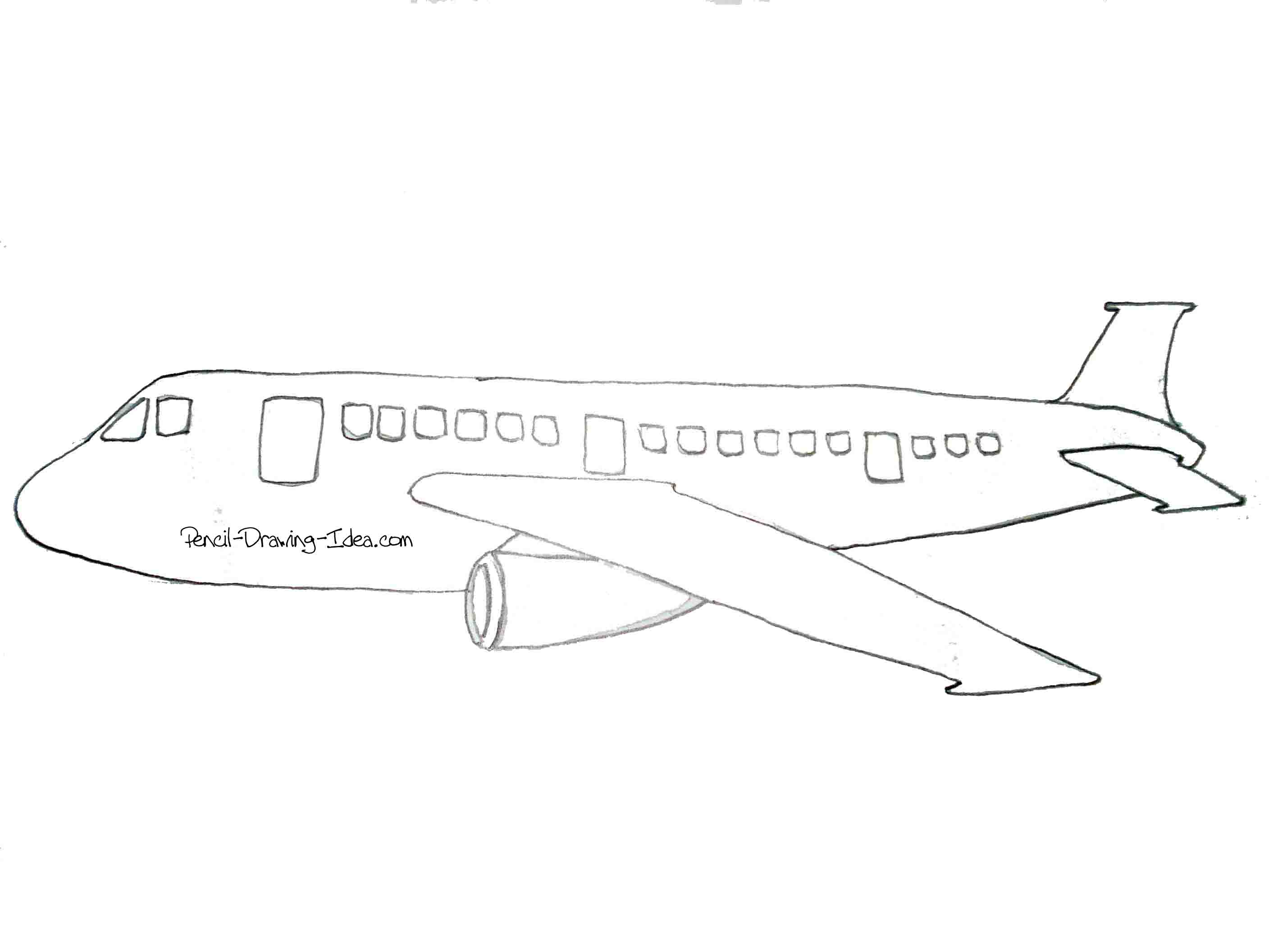 simple drawing of airplane plane outline drawing at getdrawings free download simple airplane of drawing