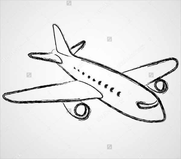 simple drawing of airplane simple plane drawing at paintingvalleycom explore drawing simple of airplane