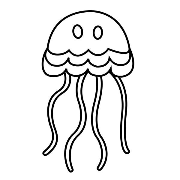 Simple jellyfish drawing