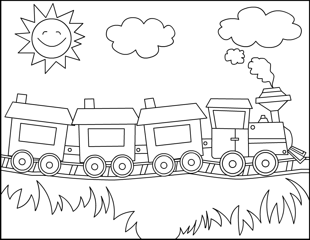 simple train coloring page polar express coloring pages to download and print for free page train simple coloring