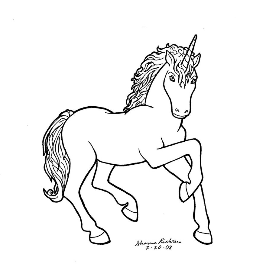 sketch of a unicorn unicorn drawing at getdrawings free download of unicorn sketch a