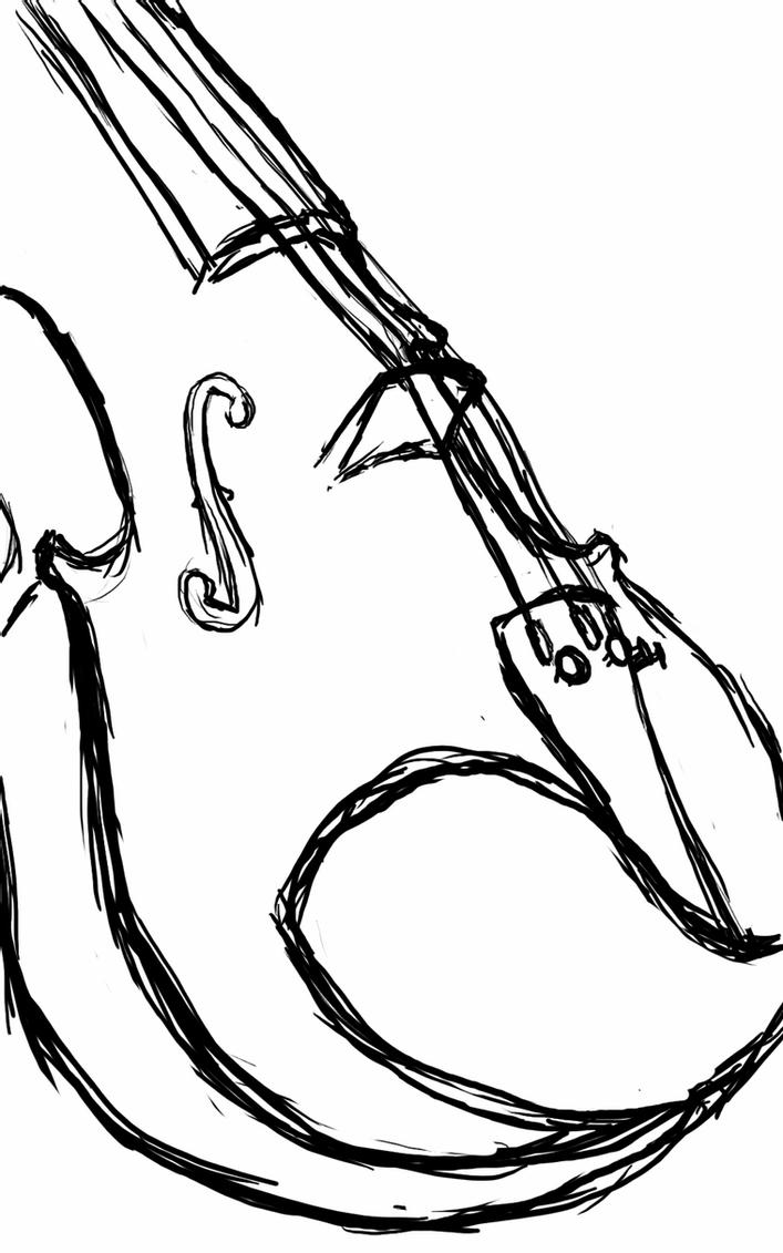 sketch of a violin learn how to draw a violin musical instruments step by sketch of a violin