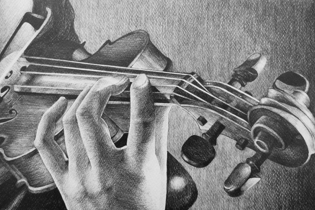 sketch of a violin ohmygosh is that a drawingpainting of a violin of sketch a of violin