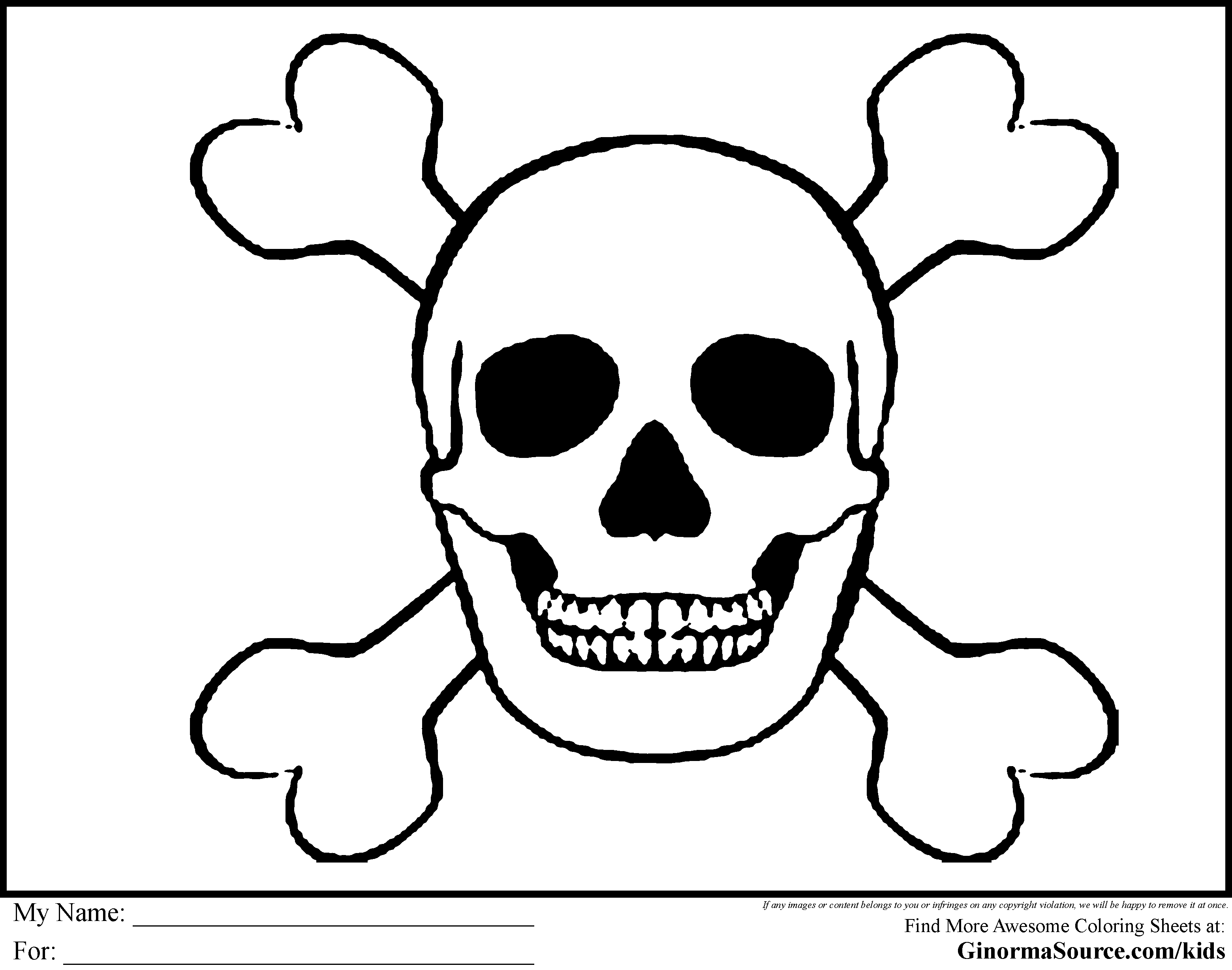 skull and crossbones coloring page pirate coloring pages skull and bones pirates pinterest coloring skull crossbones page and