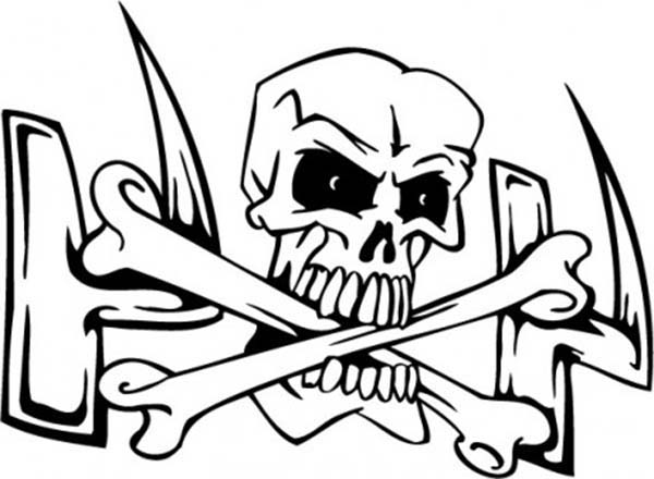 skull and crossbones coloring page skull and crossbones coloring pages coloring home page and crossbones skull coloring