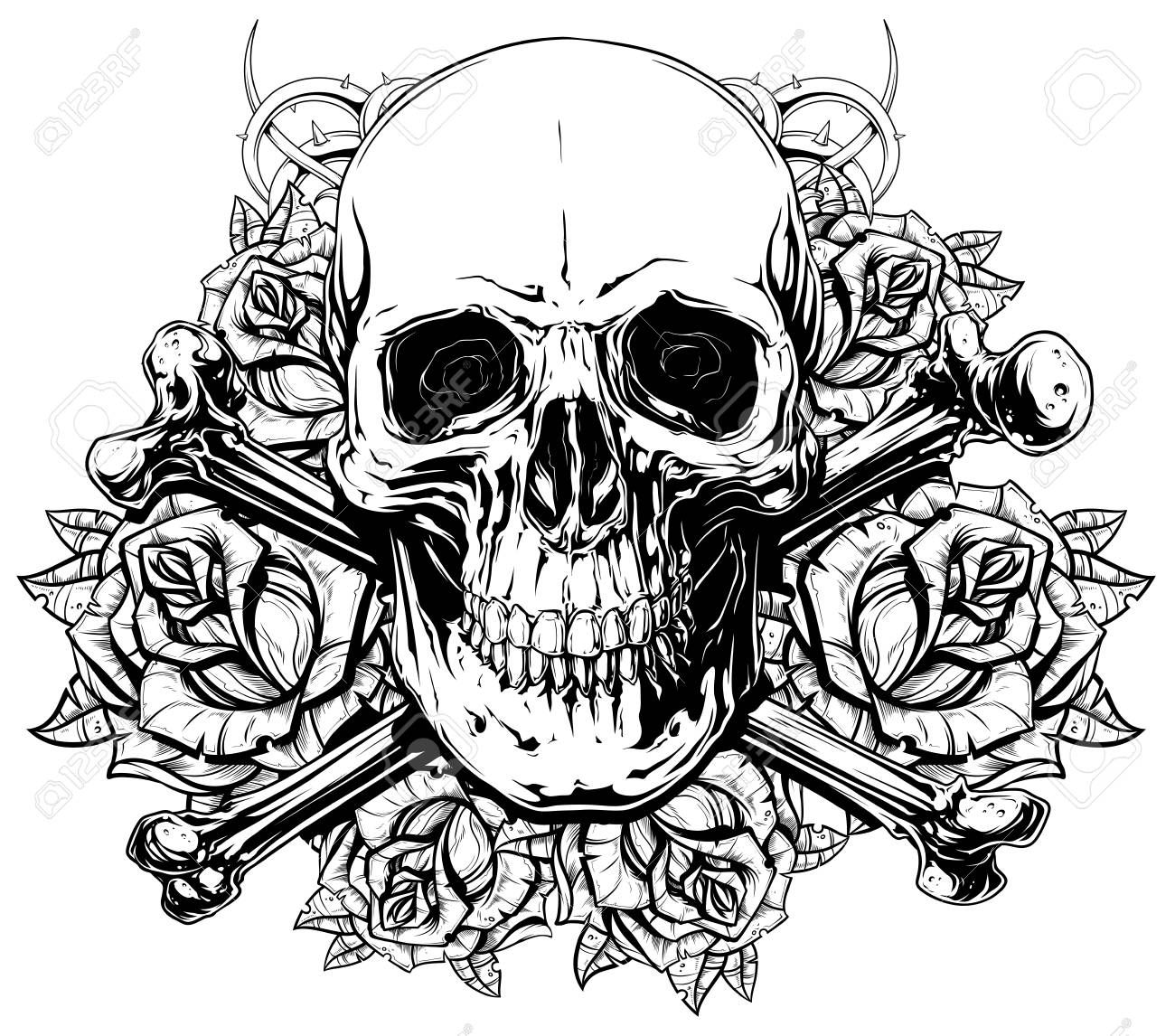 skull and crossbones coloring page skull and crossbones coloring pages getcoloringpagescom crossbones skull page coloring and