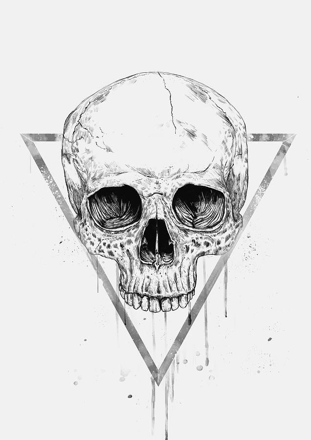 skull drawing skull in a triangle ii drawing by balazs solti drawing skull