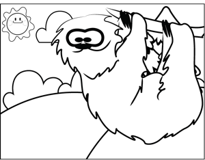 sloth pictures to print sloth coloring pages clipart free printable coloring pages to print sloth pictures