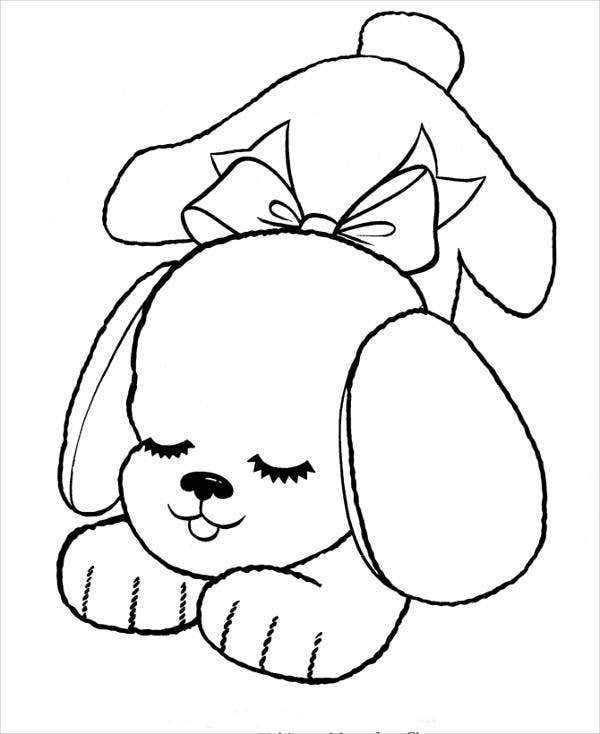small dog coloring pages cute baby puppy coloring pages 2020 cute baby puppies small dog coloring pages