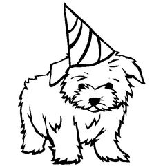 small dog coloring pages newfoundland dog drawing at getdrawings free download coloring dog small pages