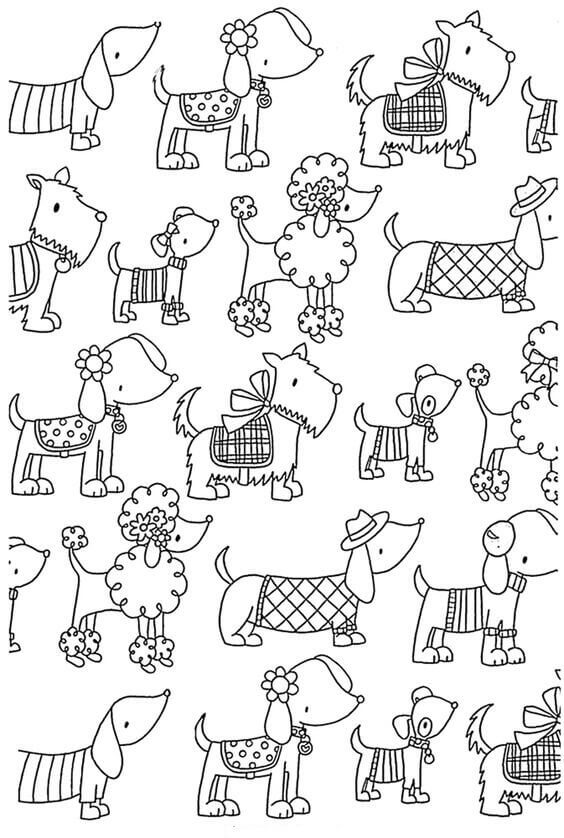 small dog coloring pages yorkie coloring pages at getcoloringscom free printable dog small pages coloring