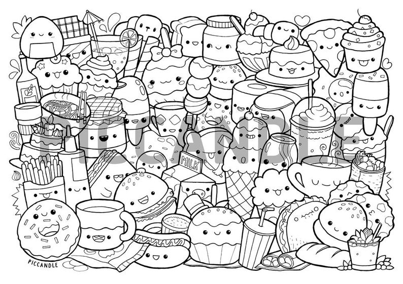 snack coloring pages 7 best images of printable pictures of breakfast food pages snack coloring