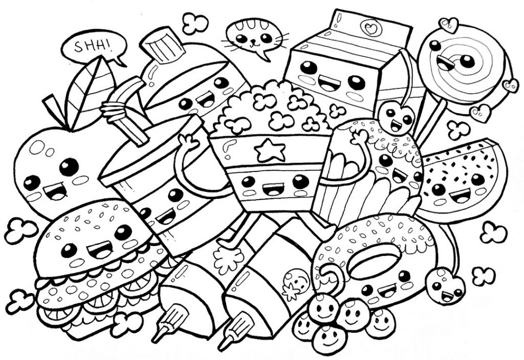 snack coloring pages new 38 adorable cute food coloring pages snack pages coloring
