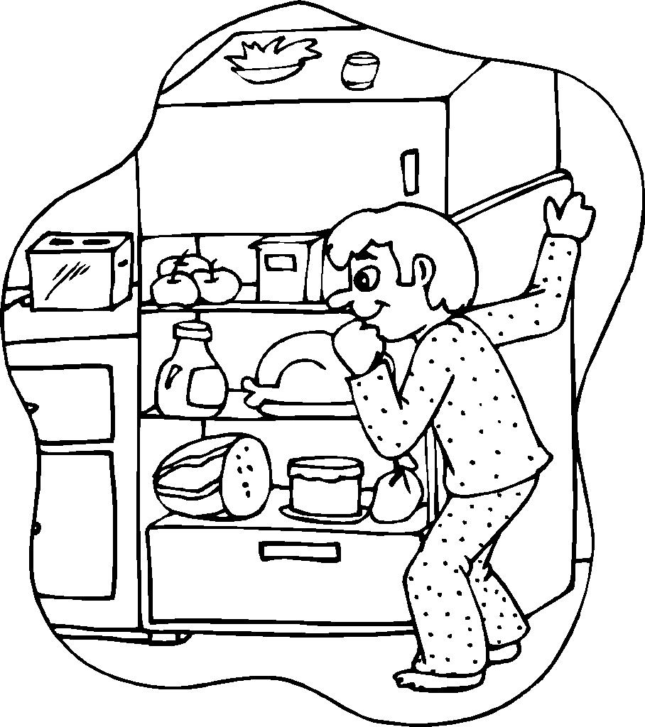 Snack coloring pages