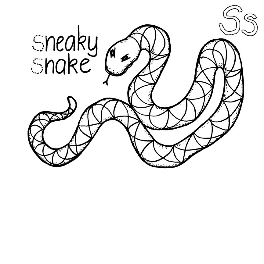 snake coloring pictures free printable snake coloring pages for kids animal place coloring pictures snake 1 1