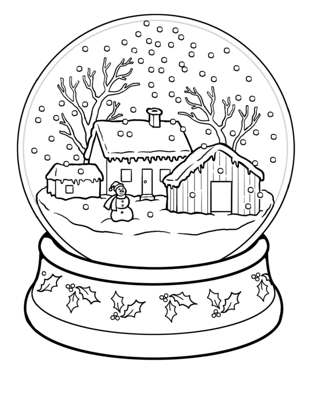 snow globe coloring page snow globe coloring pages for kids colours drawing wallpaper globe coloring page snow