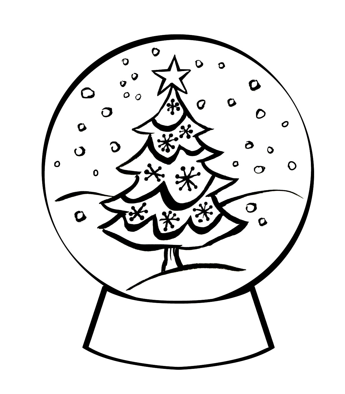 snow globe coloring page snow globe coloring pages for kids colours drawing wallpaper page snow coloring globe