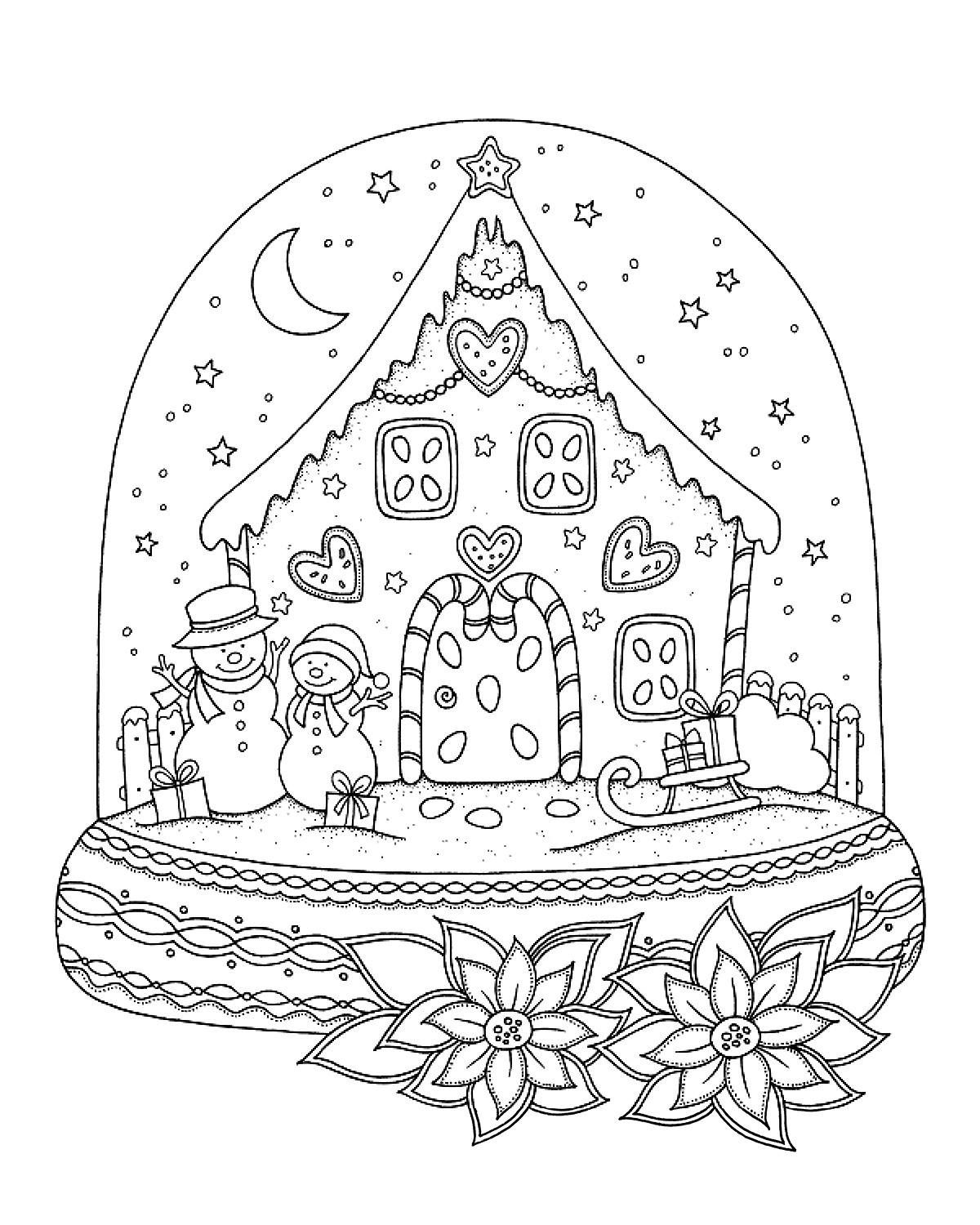 snow globe coloring page snow globe coloring sheet art clas snögubbe globe snow page coloring